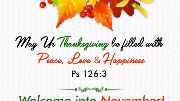 THANKSGIVING SERIES – PART 3