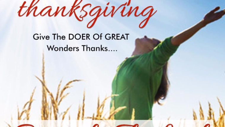 THANKSGIVING SERIES – PART 4