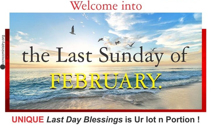 🔴💜 WELCOME into the Last Day and the Last Sunday of FEBRUARY 2021💜🔴